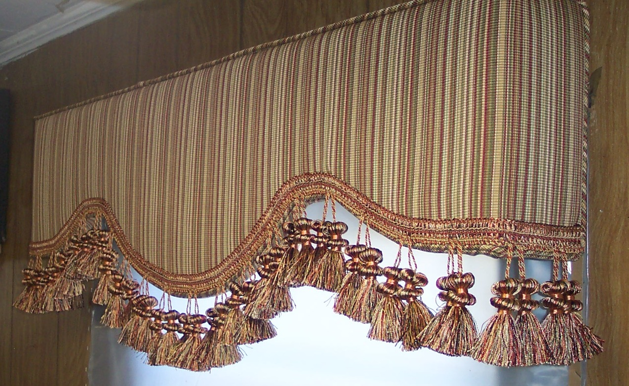 Glendale upholstered cornice boards